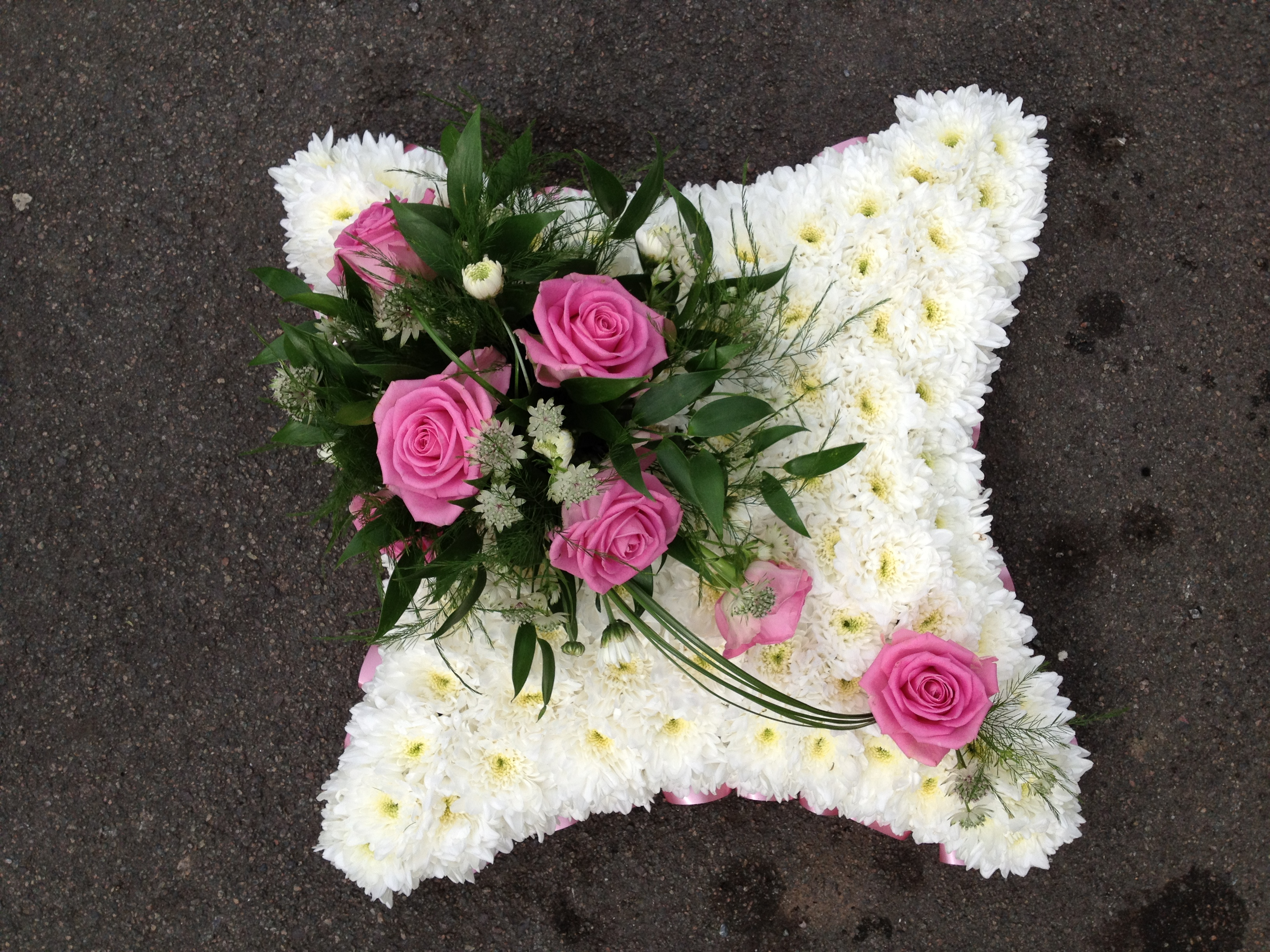 Blocked Funeral Tribute Flowers