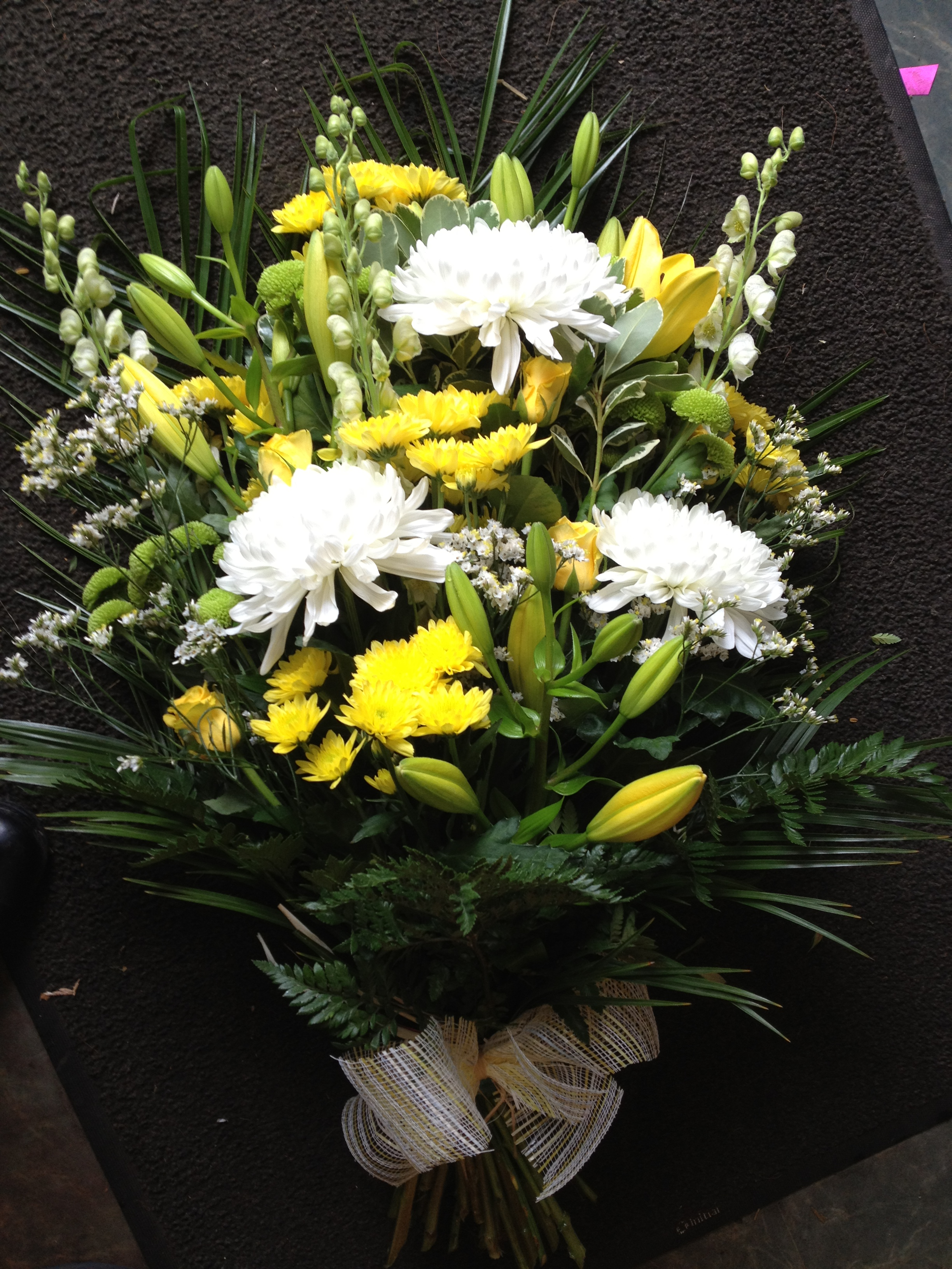 Funeral flower arrangements leicester the personal touch ts1 tied shief from2500 izmirmasajfo