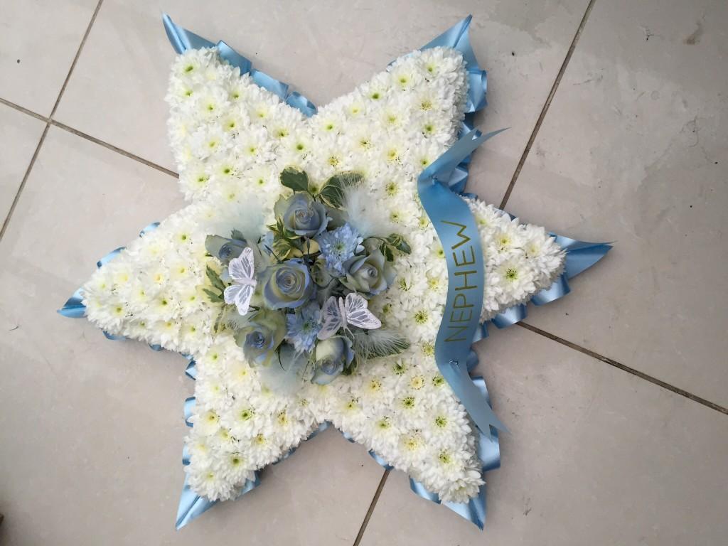 Blocked Funeral Tribute Flowers