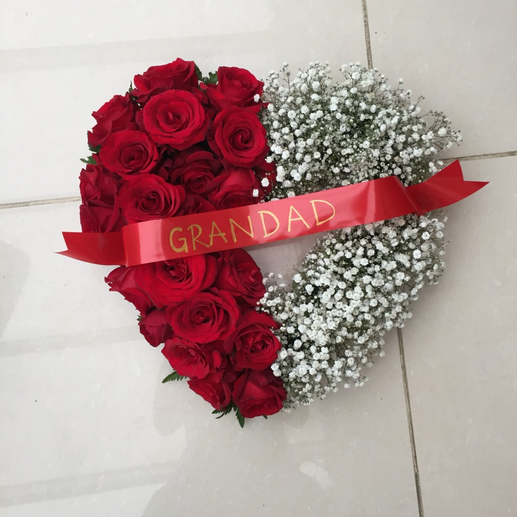 Blocked funeral tribute flowers red rose and gyp heart from 7000 izmirmasajfo Choice Image