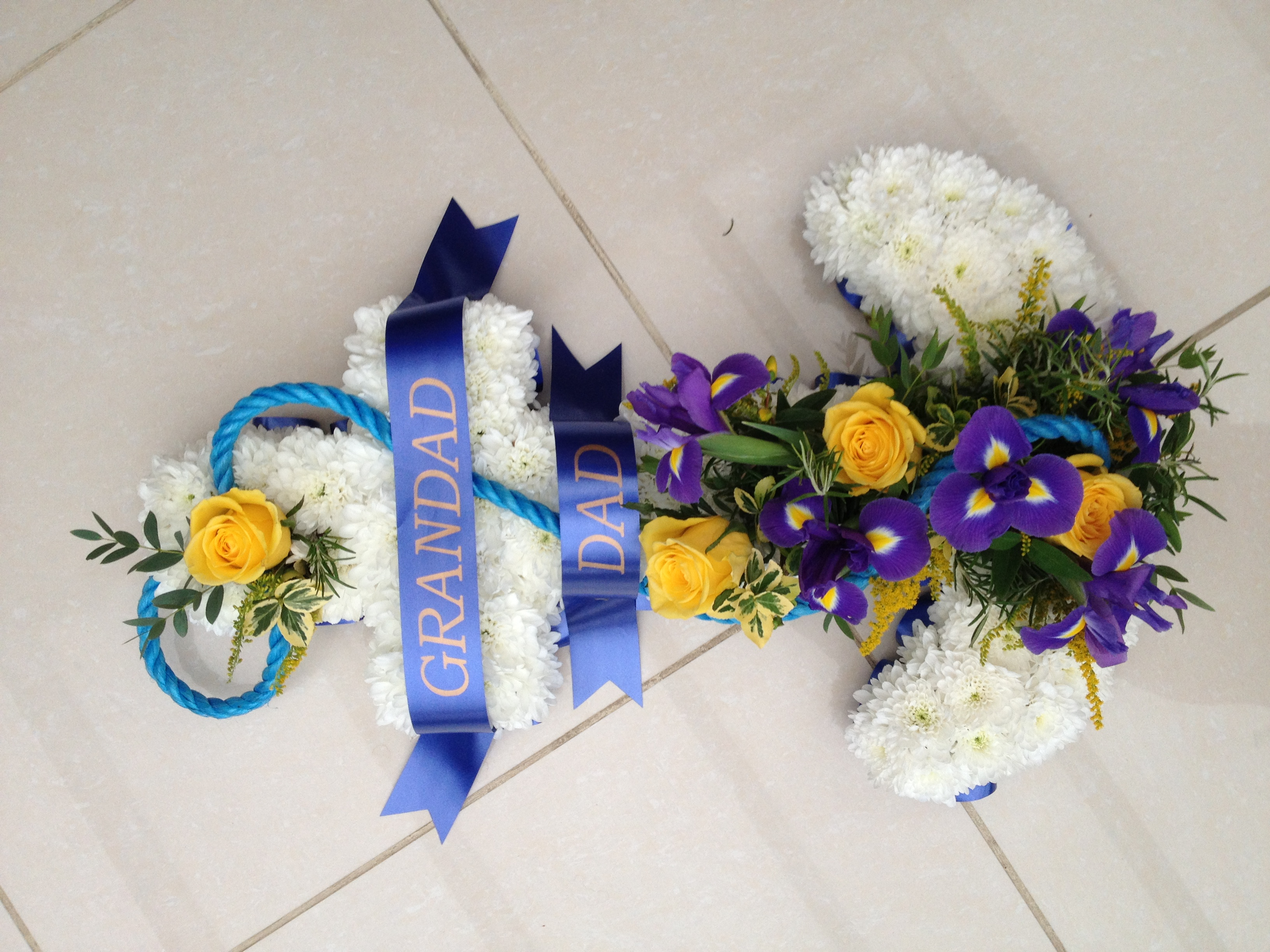 Blocked funeral tribute flowers a2 anchor 7500 izmirmasajfo